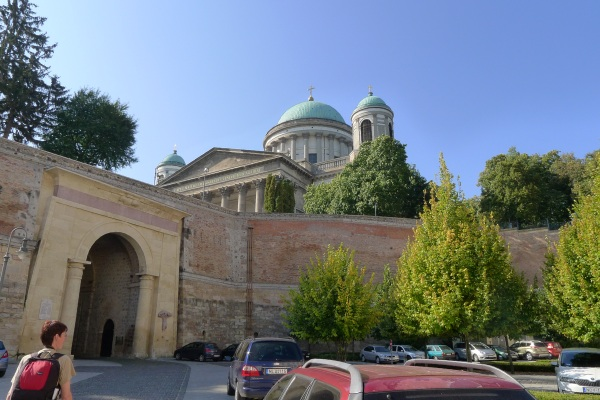 On the way to the basilica