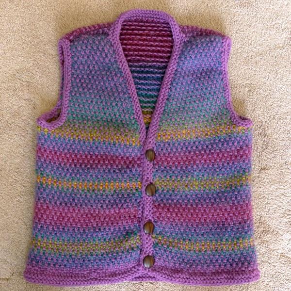 Finished waistcoat