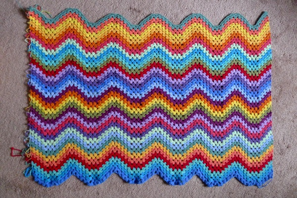 First third of granny ripple blanket