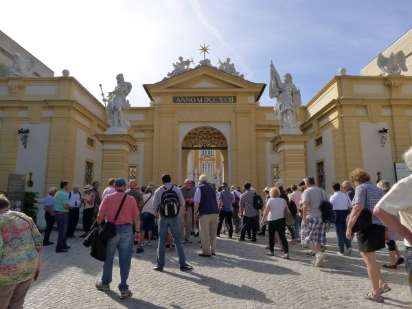 Arriving at Melk abbey