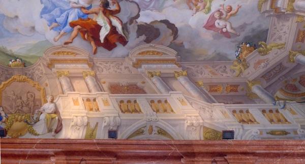 Edge of ceiling