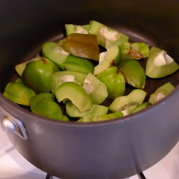 Chopped up quinces