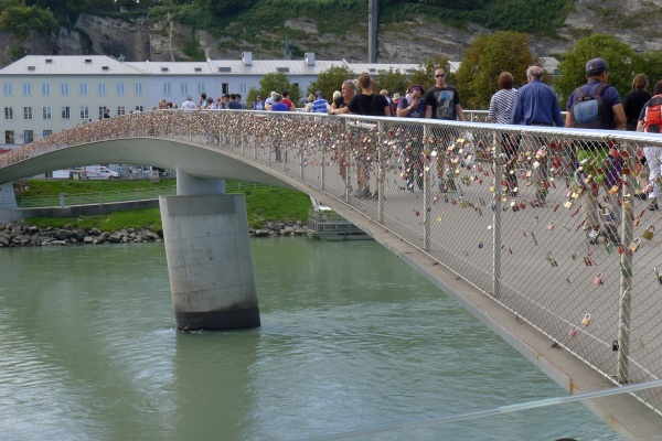 Bridge with padlocks