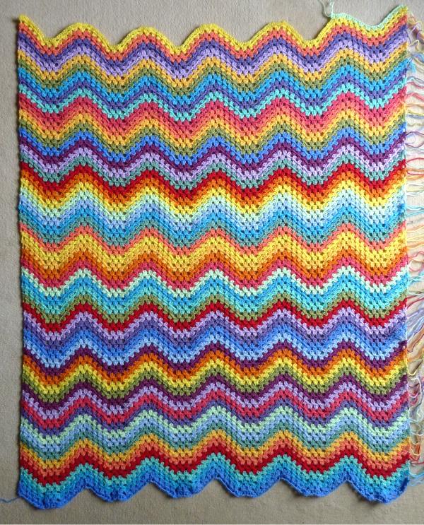 Blanket just over halfway