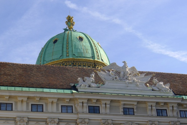 Hofburg palace green copper roof