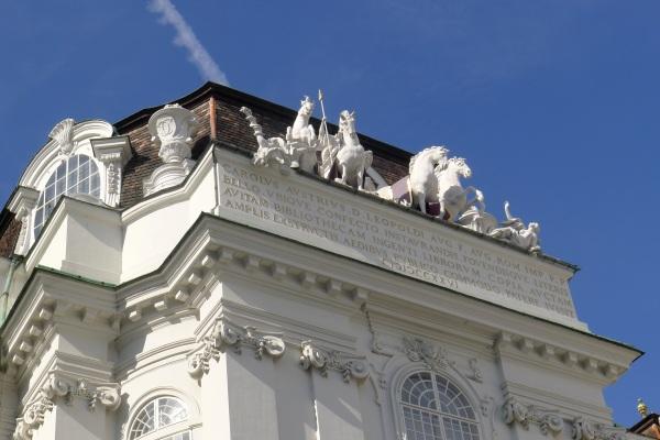 Horses on Hofburg palace
