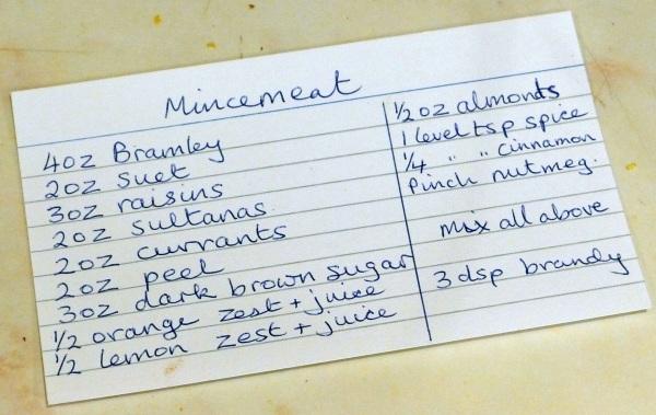 Ingredients card