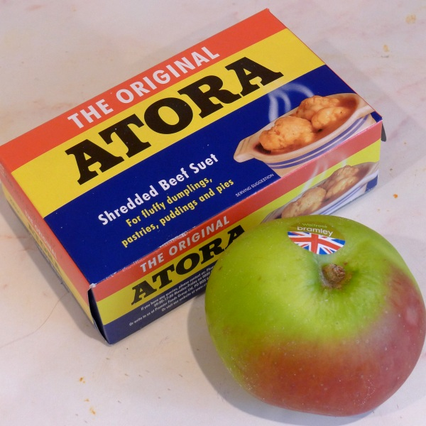 Suet and apple
