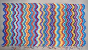 coloured ripples blanket