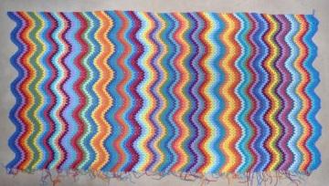 coloured ripples blanket