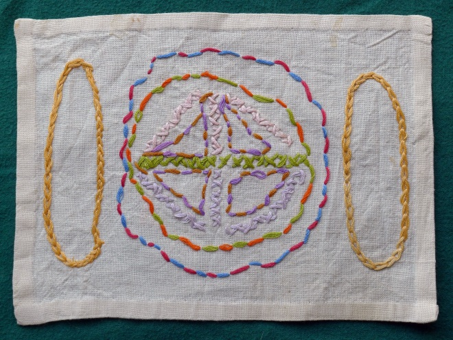 Younger daughter embroidery