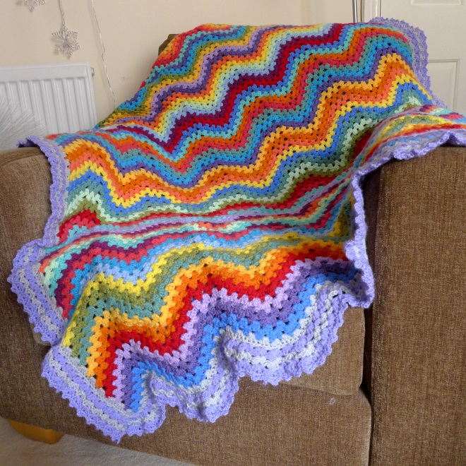 Blanket drapped over a chair