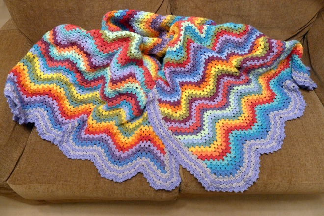 Granny Ripple For Blanket Rainbow Junkie
