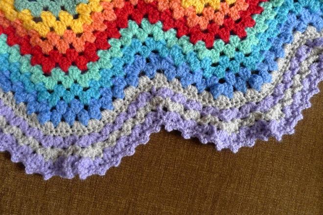 Granny Ripple Blanket Great Reveal Rainbow Junkie