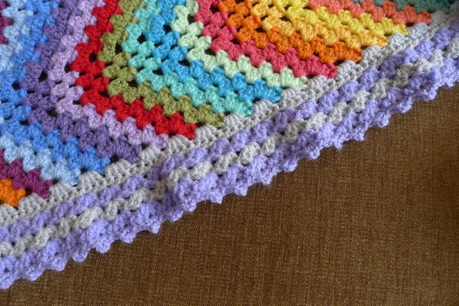 Granny Ripple Blanket Great Reveal Rainbow Junkie