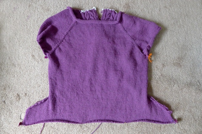 Back of jumper with pockets