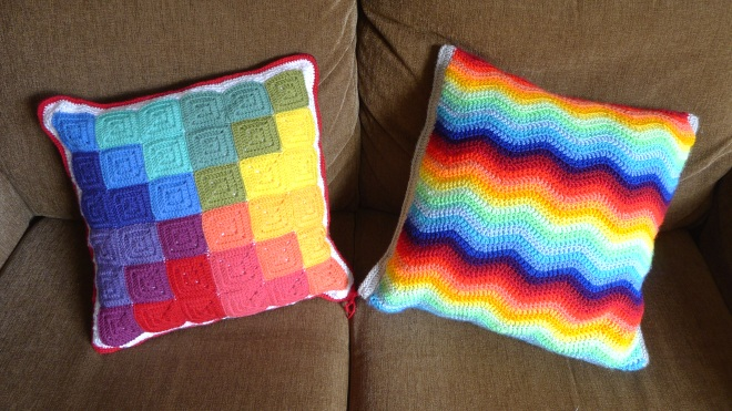 Two cushions first sides