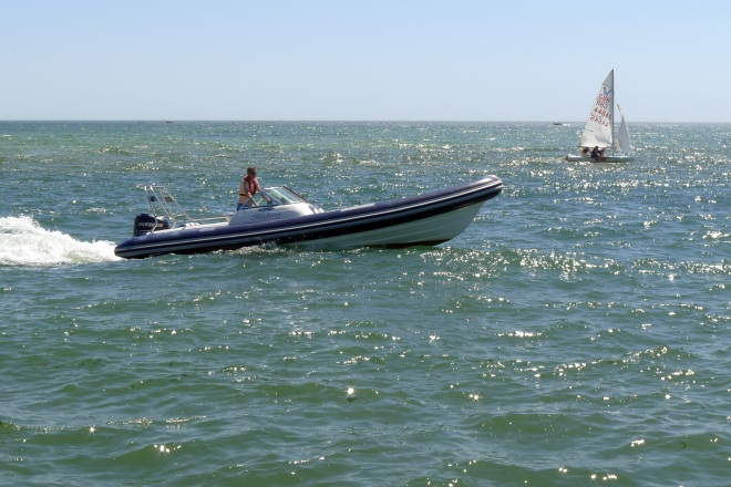 Motor boat and yacht