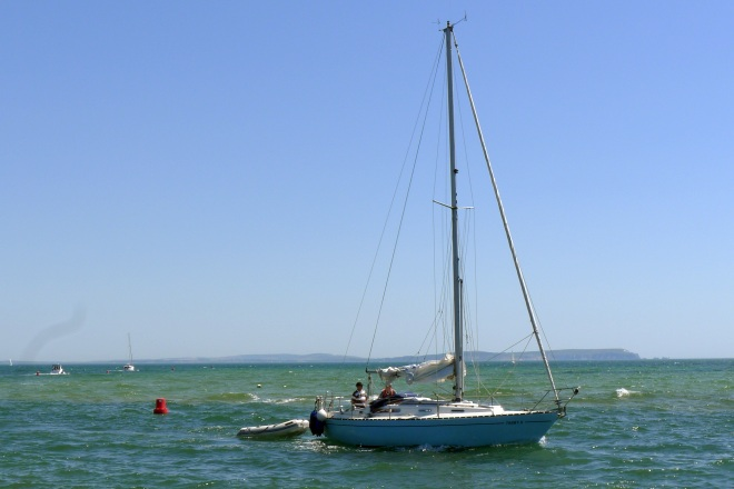 Sail and motor boat