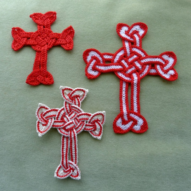 Three Celtic crosses
