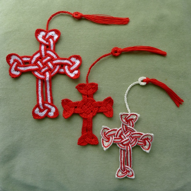 Crosses with cords and tassels