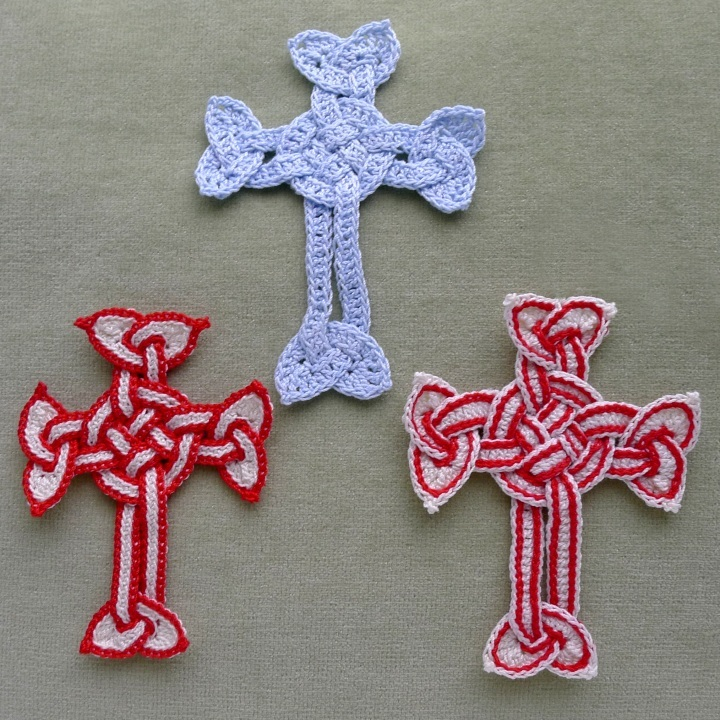 Three different styles of Celtic cross