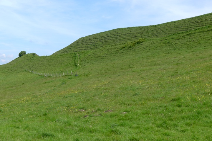 View of part of Maiden Castle