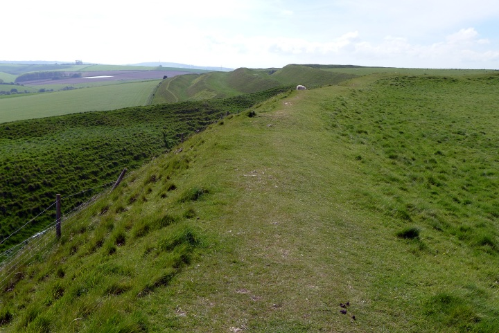 Far side of Maiden Castle