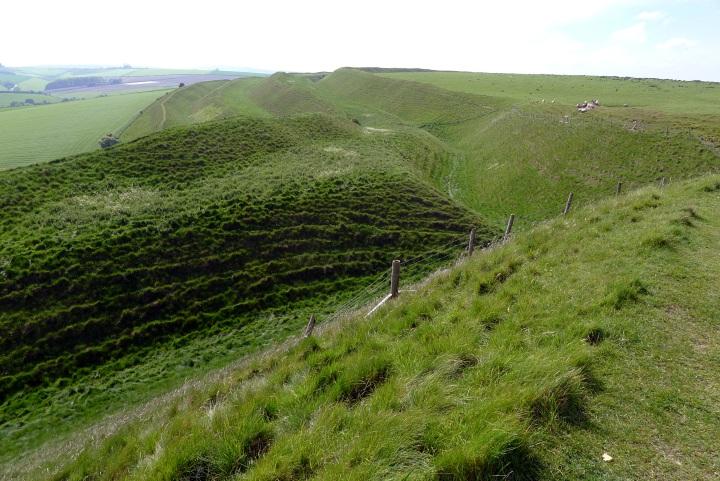 Far side of Maiden Castle