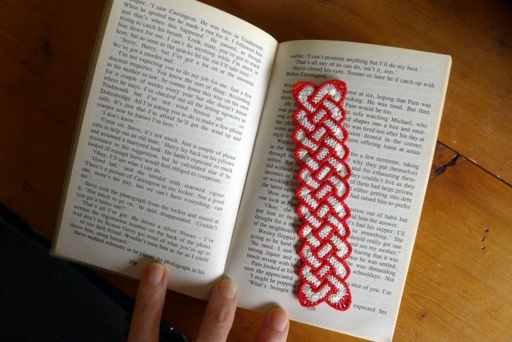 new bookmark on paperback book