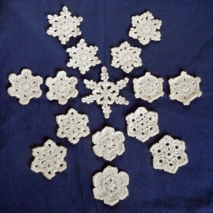 snowflake size comparison
