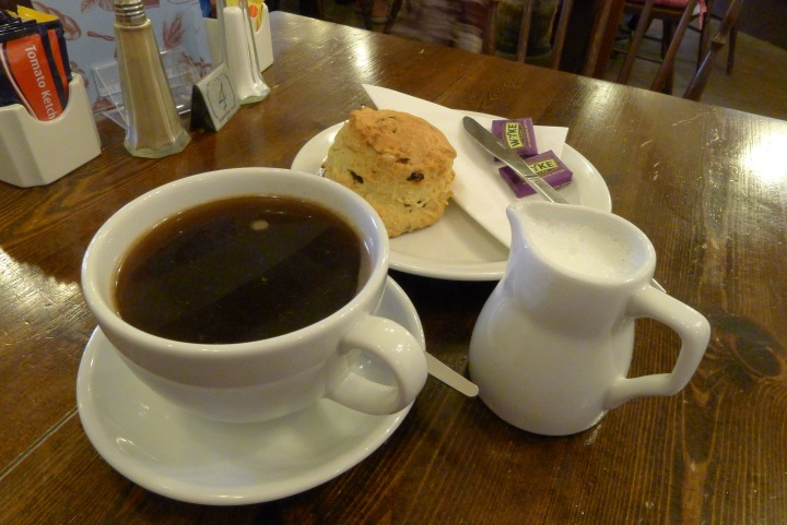 Coffee and a scone