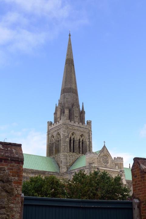 spire against blue sky