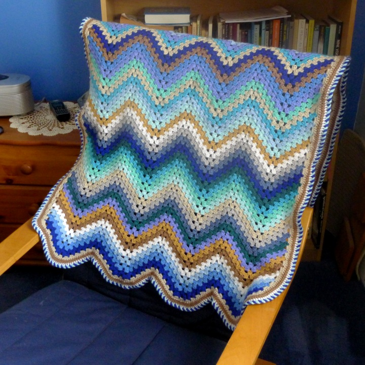 blanket on bedroom chair