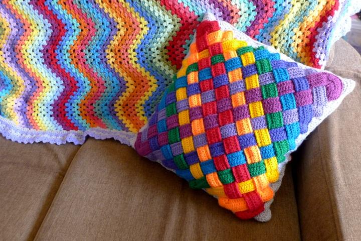 cushion on settee