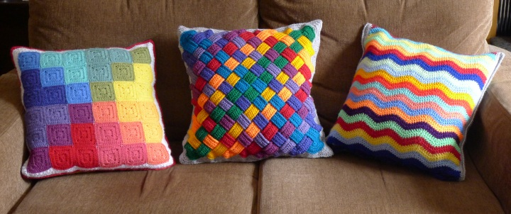 other side of three cushions