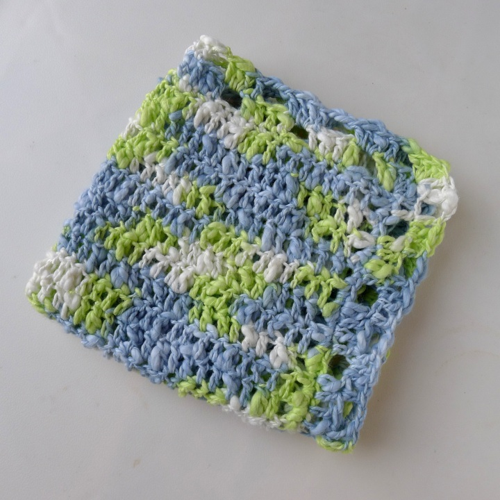 Dishcloth folded