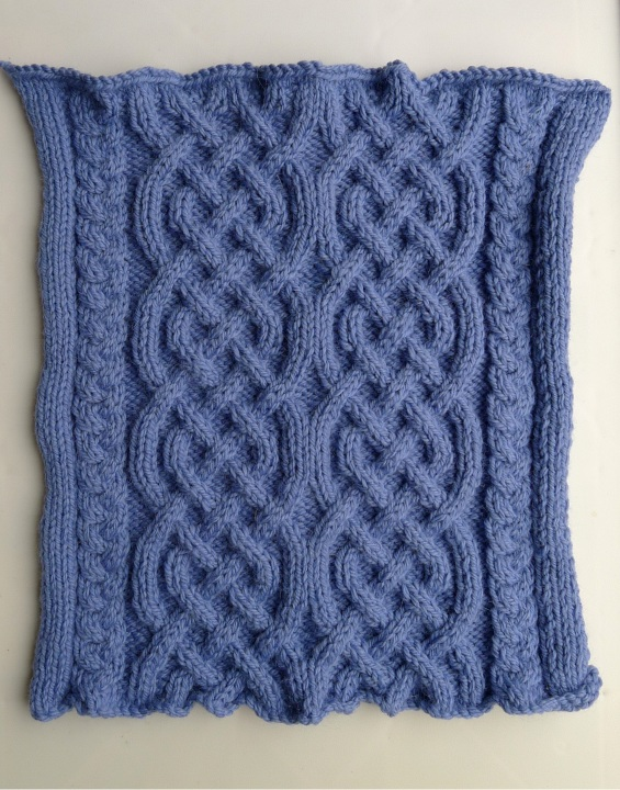Celtic knitted cables for cushion