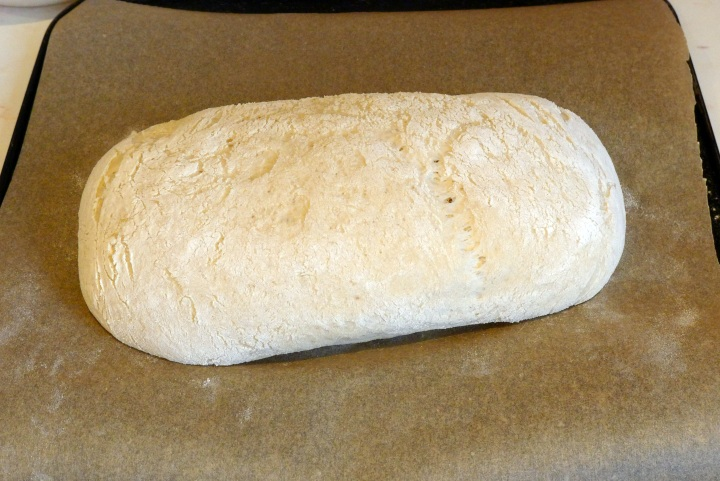 dough ready for oven