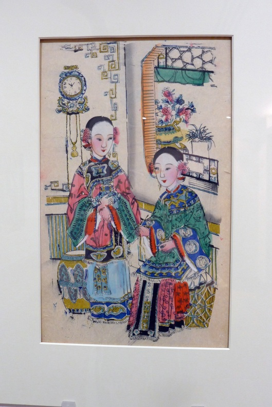 Two Chinese women and clock