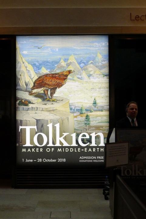 Tolkien exhibition display