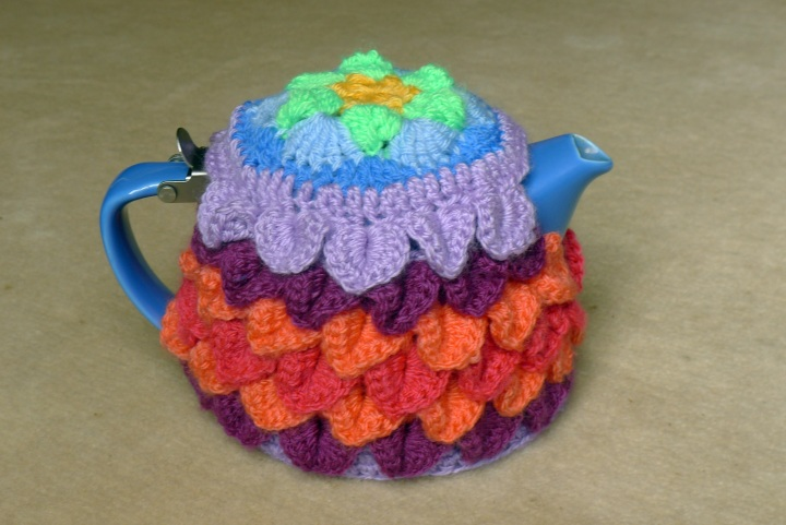 teapot with cosy from the side