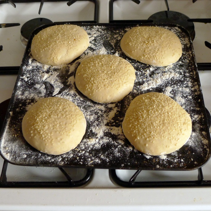burger rolls ready for oven