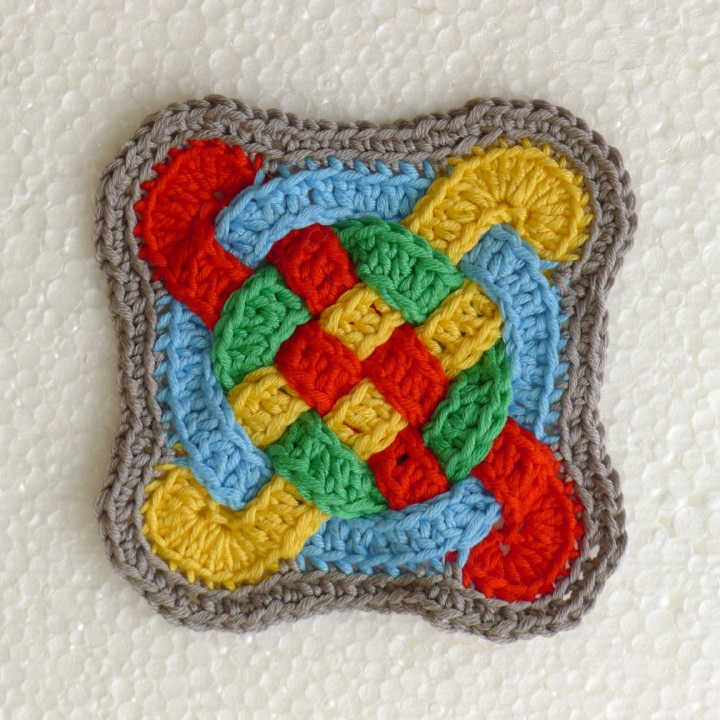 Cross Bookmark Two Patterns Rainbow Junkie