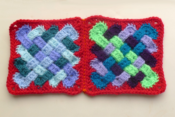 two blanket squares joined
