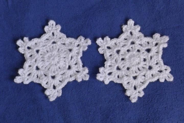 two white snowflakes