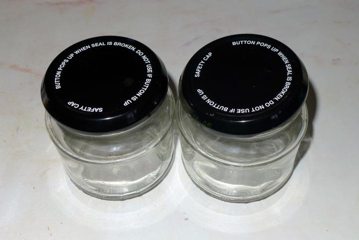 two empty jars