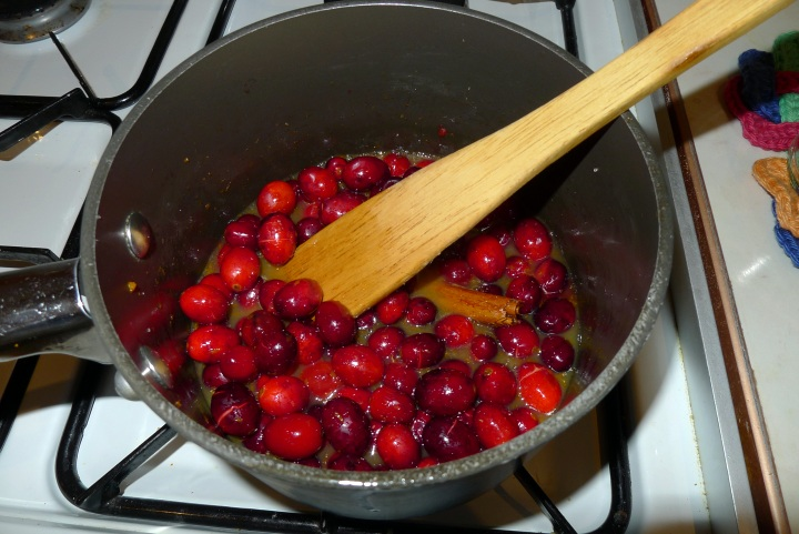 cranberry mixture stirred