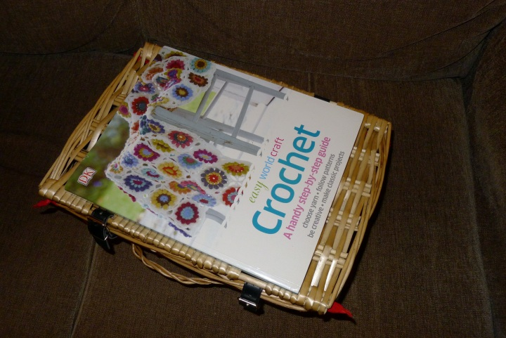 hamper with book on top