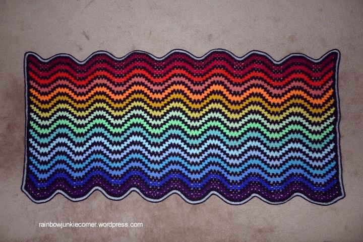 slow granny ripple blanket